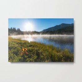 Morning Glory - Sunrise at Mountain Lake in Colorado Metal Print