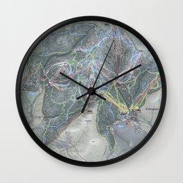 Killington Resort Trail Map Wall Clock
