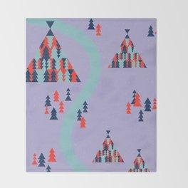 Tipi Tree Glitch Throw Blanket