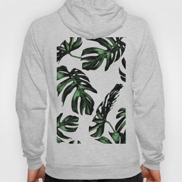 Tropical Green Palm Leaves Hoody
