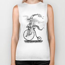 Forest Wizard on a Bike Biker Tank