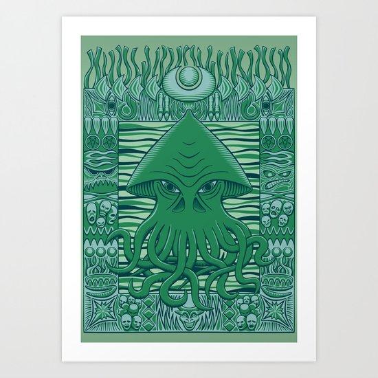 Dreamer in the Deep Art Print