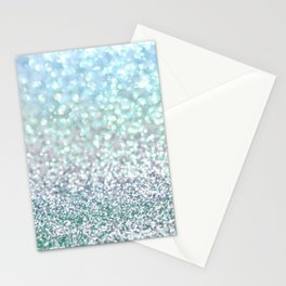 Blue Mist Snowfall Stationery Cards