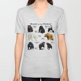 Bears of the World Unisex V-Neck