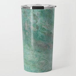 Mossy Woods Green Marble Travel Mug