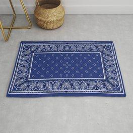 Classic Royal Blue Bandana Rug