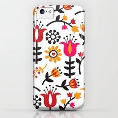 Retro Scandinavian Flowers Pattern iPhone 5c Slim Case