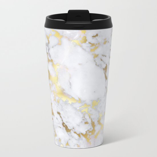 Original Gold Marble Metal Travel Mug