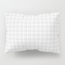 Grey White Check Pillow Sham