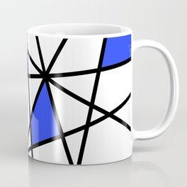 Geometric Modern triangles - white blue Coffee Mug