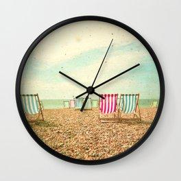 Deckchairs Wall Clock