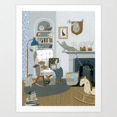 Baby Animal Nursery Art Print
