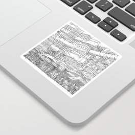 Hong Kong. Kowloon Walled City Sticker