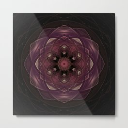 Flor de lótus Metal Print