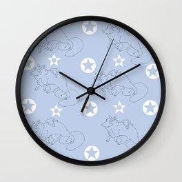 Flffy and shrk Wall Clock