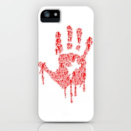 Undead Blood Hand Print Artwork iPhone Case