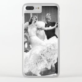 Jason Vorhees as Fred Astaire Clear iPhone Case