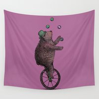 suits Wall Tapestries featuring The Juggler by Eric Fan