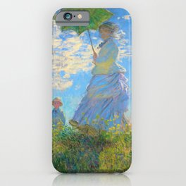 Claude Monet - Woman with a Parasol - Digital Remastered Edition iPhone Case