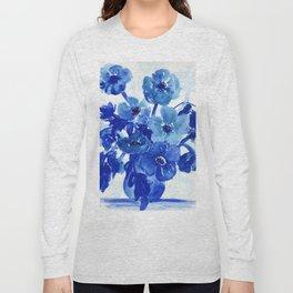 blue stillife Long Sleeve T-shirt