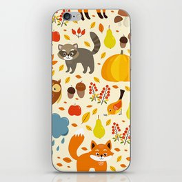 Woodland Animals iPhone Skin