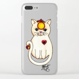 Icon Cats II Clear iPhone Case