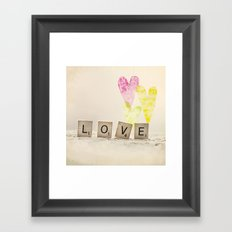 Translucent Love Framed Art Print