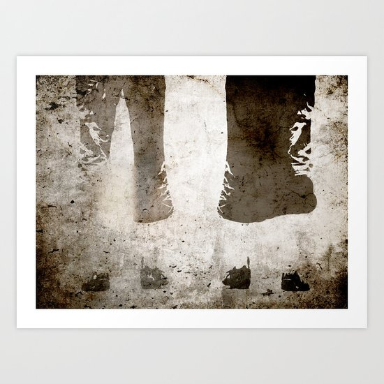 Man and woman - wait Art Print