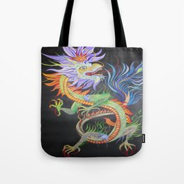 Bright and Vivid Chinese Fire Dragon Tote Bag