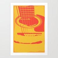 Guitar III Art Print