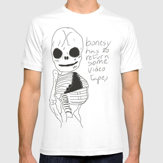bonesy has to return some video tapes T-shirt