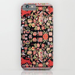 Täcke Antique Swedish Skåne Wedding Blanket Print iPhone Case