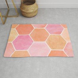 Desert Mood Hexagon Print Rug
