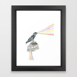 untitled crow Framed Art Print