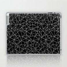 Shattered White on Black Laptop & iPad Skin