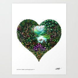 Through the Jungle: Journey of Love - Colored Art Print