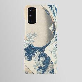 The Great Wave off Kanagawa by Katsushika Hokusai from the series Thirty-six Views of Mount Fuji Art Android Case