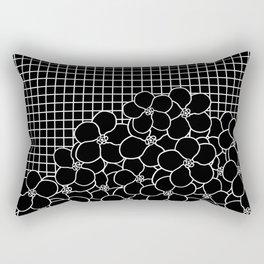 Forget Me Knot Grid Black Rectangular Pillow