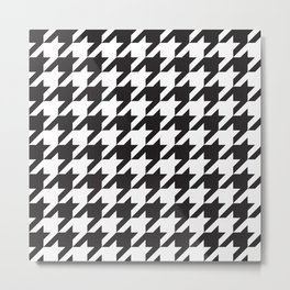 Houndstooth (Black and White) Metal Print