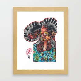 oni arm Framed Art Print
