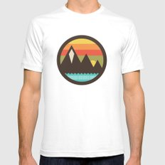 Midsummer's Eve White SMALL Mens Fitted Tee