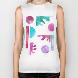 10 | Steady | 181111 November 2018 Shapes Studies | Watercolour Abstract Biker Tank