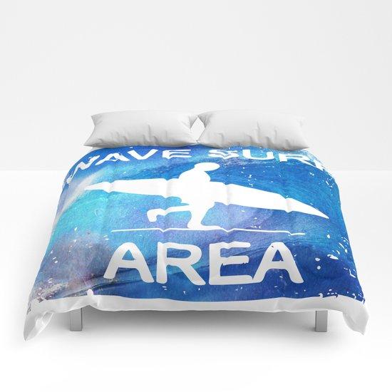 Wave Surf Area Comforters