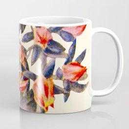 Purple And orange Vintage Succulent Watercolour Coffee Mug