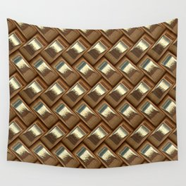 Metal Weave golden Wall Tapestry