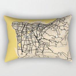 Beirut Yellow City Map Rectangular Pillow