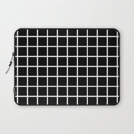 Back to School - Simple Grid Pattern - Black & White - Mix & Match with Simplicity of Life Laptop Sleeve