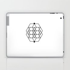 Mesh Geometry White Laptop & iPad Skin