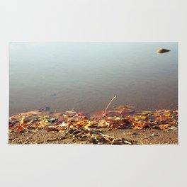 Autumn by the water Rug