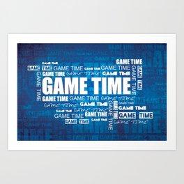 Game Time Art Print